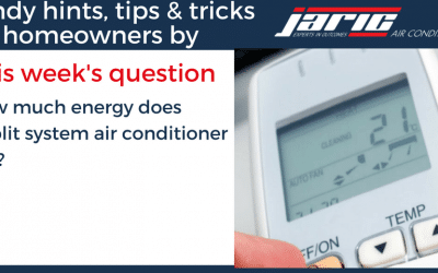 How much energy does a split air conditioner system use?