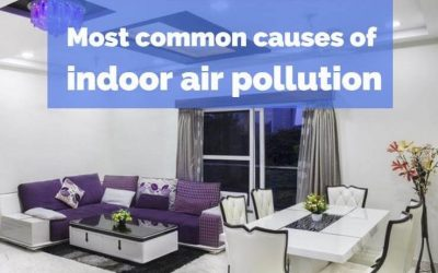 What are the most common causes of indoor air pollution?
